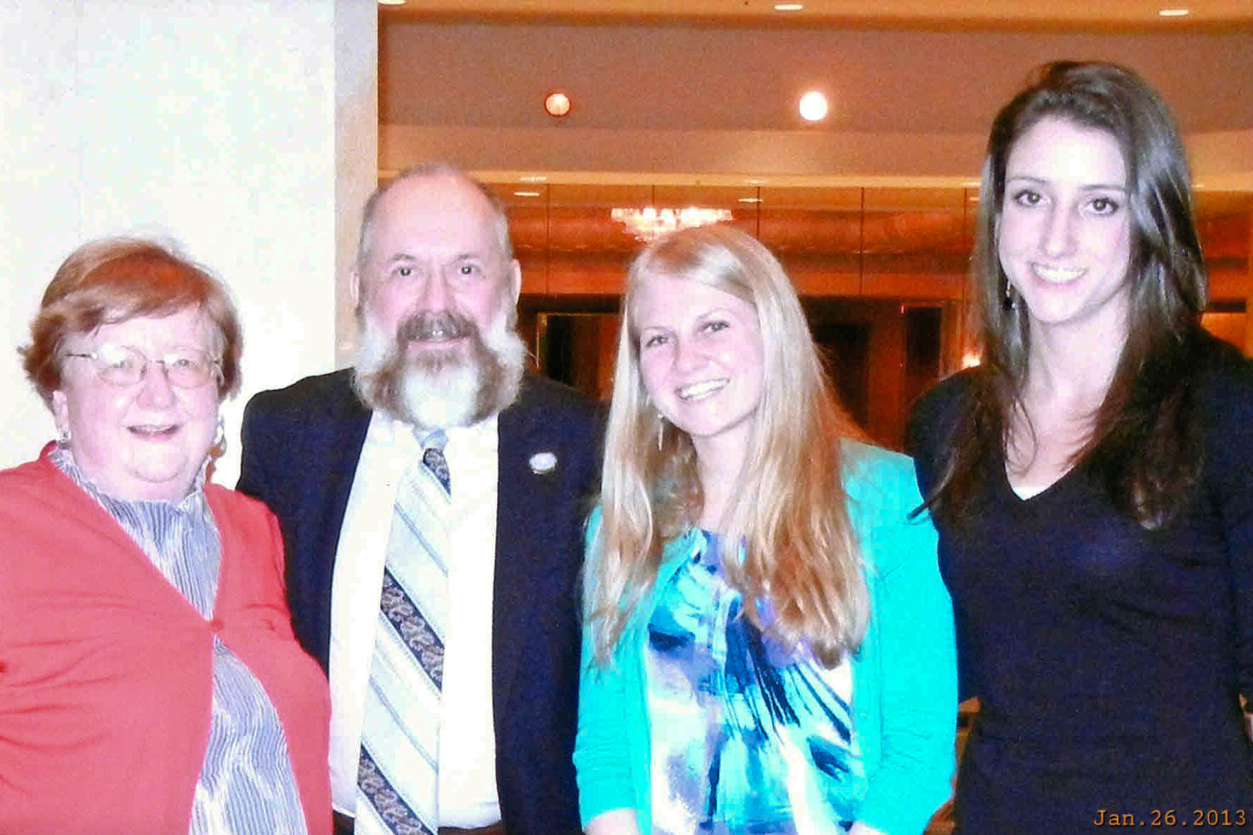 Presenters at last month's  American Correctional Association (ACA) Winter Conference in Houston, Texas. From left: Janet Kramer, James Welch, Caitlyn Jackson, and Kyle Dopfel.